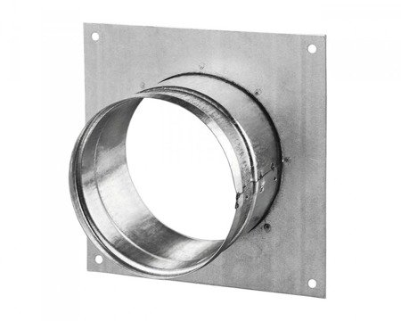 Wall flange square Ø125mm